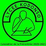 Calendrier de la Prérentrée 2020-2021